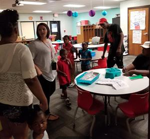 Teachers and families at Back-to-School Night