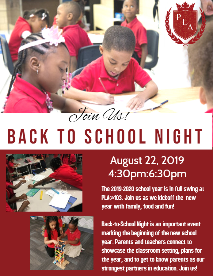 Join Us For Our Back-to-School Night!