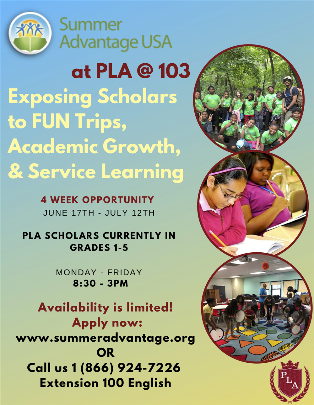 PLA@103 Summer Advantage Program