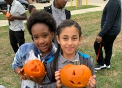 PLA@103 Grade 5 Scholars Conduct Pumpkin Patch Math Experiment