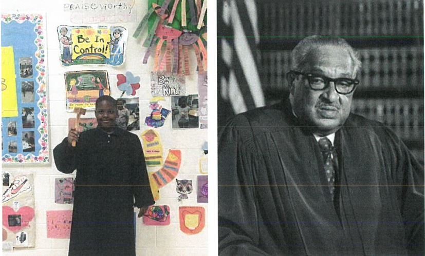 TLJ Student dressed as Thurgood Marshall.