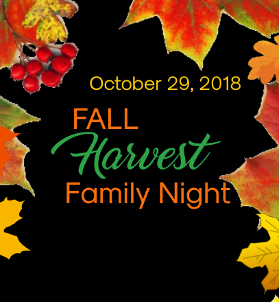 Fall Harvest Family Night Event Flyer