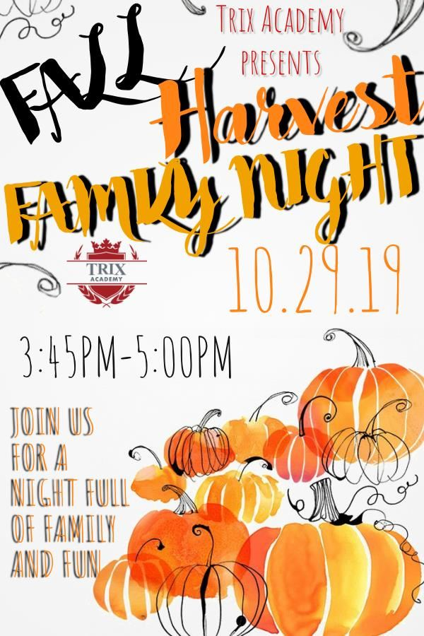 Trix Academy Family Harvest Night 10.29.19