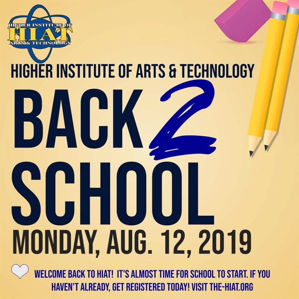 It's Almost Time For Another School Year at HIAT