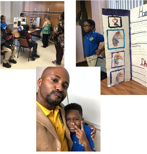 Snapshots of students at grandparents' day