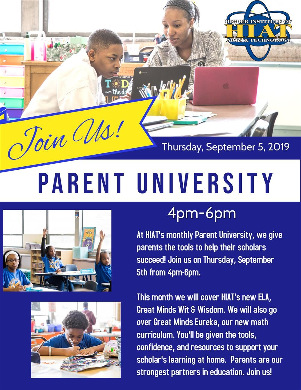 HIAT Parent University Sept 5th, 2019