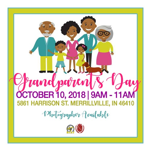 Grandparents' Day Flyer. Grandparents' Day is October 10 from 9am-11am