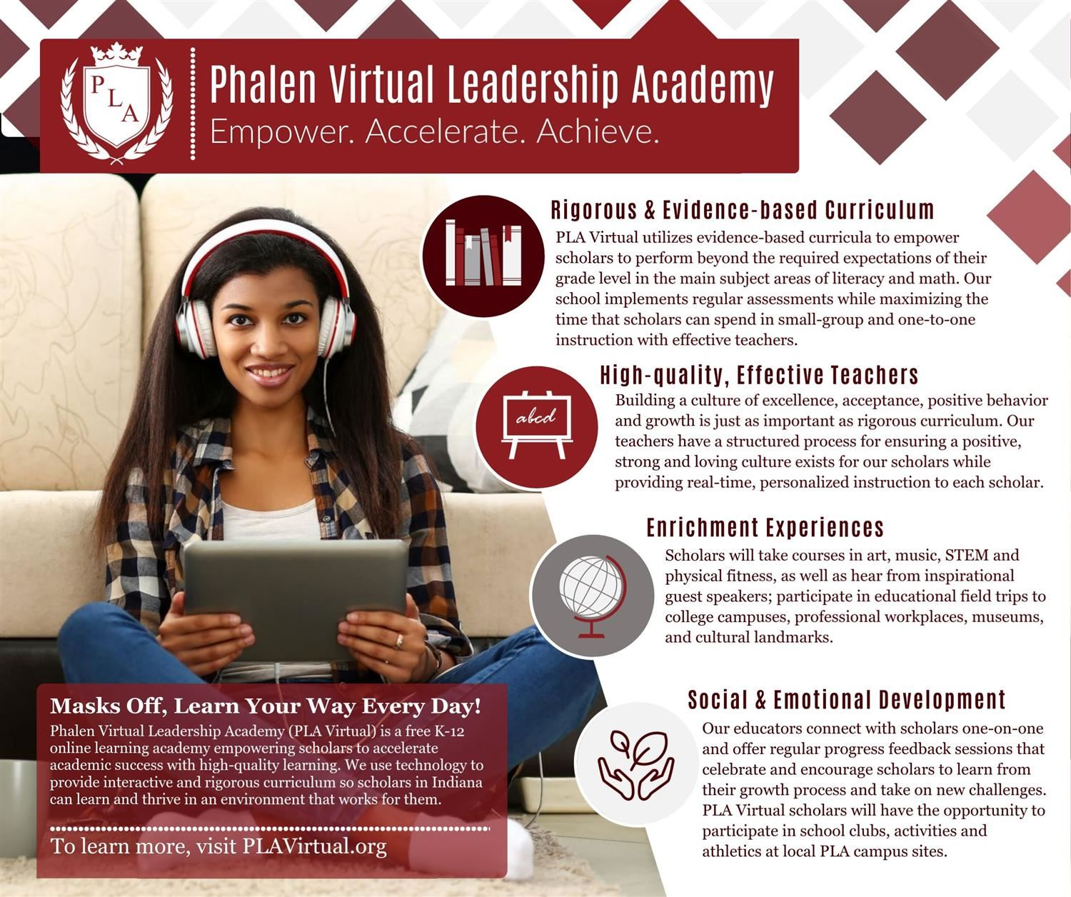 Enrollment Now Open for Phalen Virtual Leadership Academy, Grades K-12