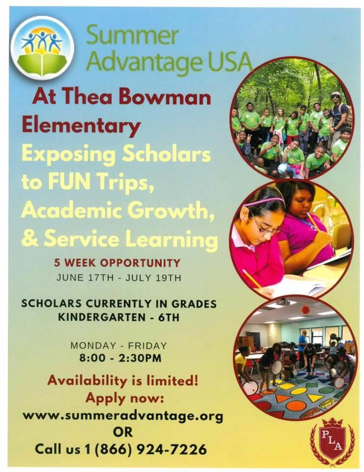 Thea Bowman Leadership Academy Summer Advantage for K-6