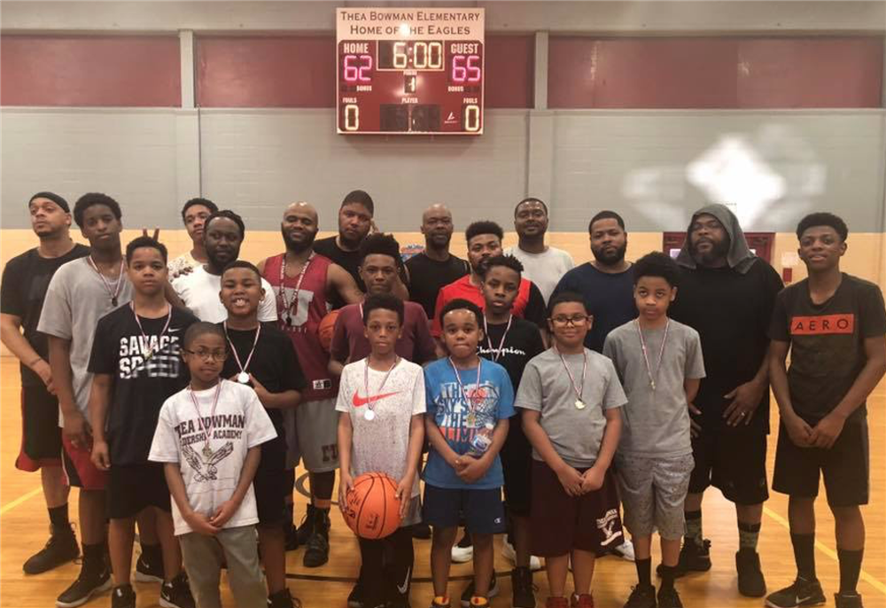 Thea Bowman Elementary Father Son Staff Basketball Game