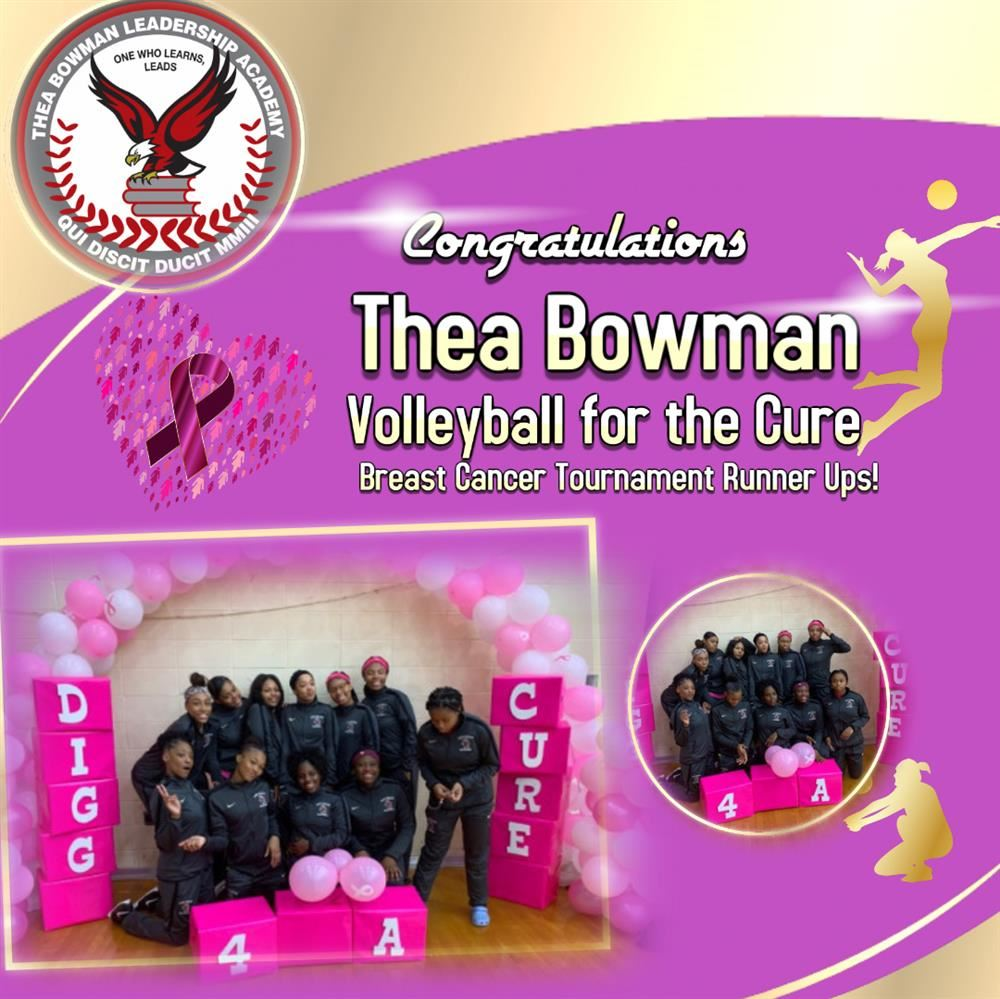 Thea Bowman volleyball team place as runner ups in breast cancer tournament for the cure