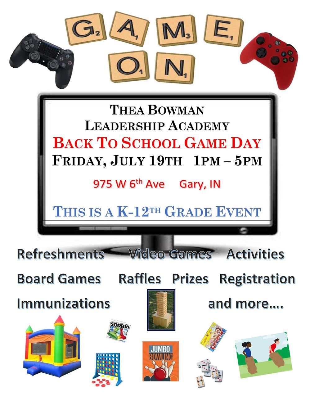 Back To School Game Day At Thea Bowman Leadership Academies