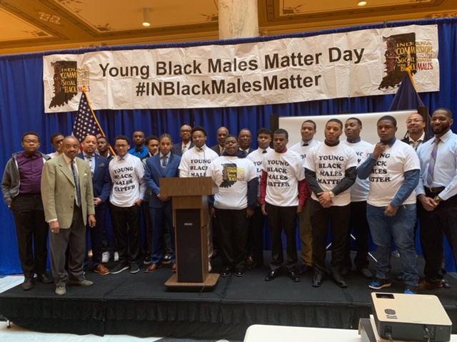 Thea Bowman Leadership Academy Scholars Visit the State House for Young Black Males Matter