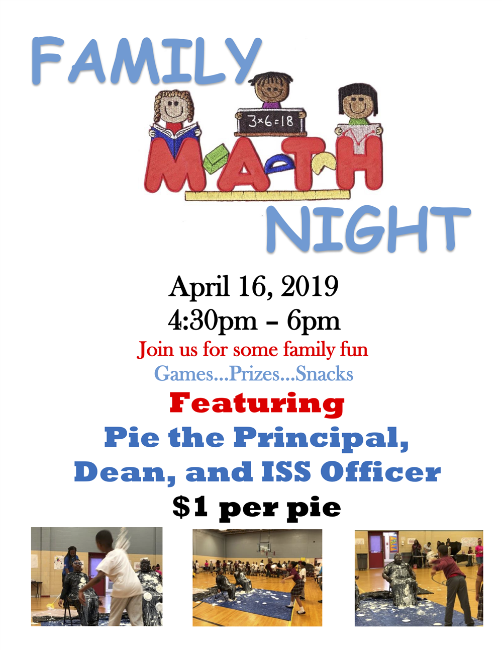 Join Thea Bowman Elementary at Math Night April 16th!