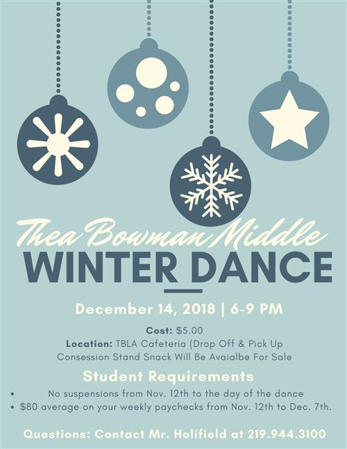 WInter Dance December 14, 2018 6pm-9pm