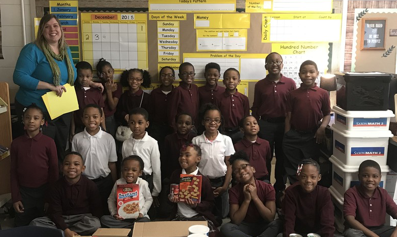 Bowman Scholars Collect Items for Families In Need