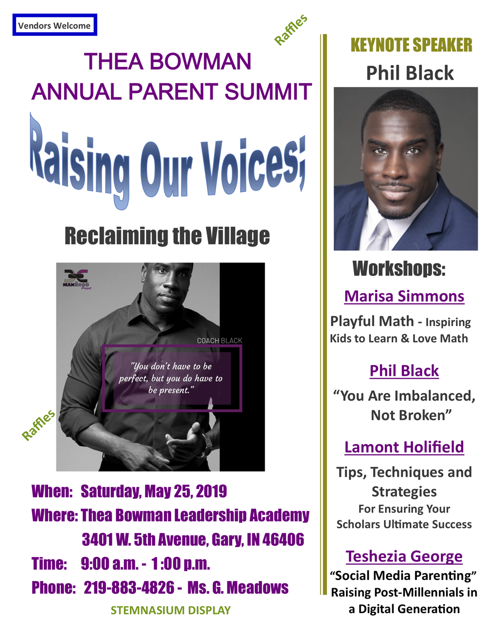 Join us for Thea Bowman Leadership Academies' Annual Summit Saturday, May 25th