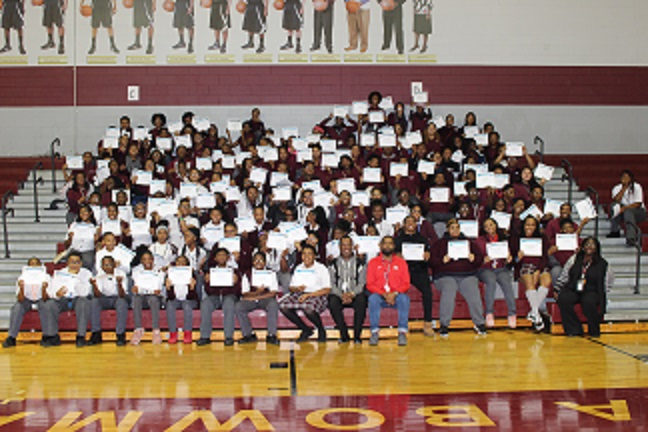 Thea Bowman Leadership Academy Junior High and High School Honor Roll scholars