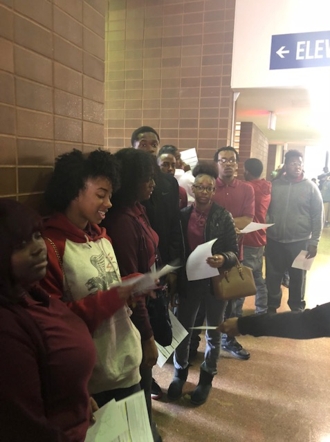 Thea Bowman Leadership Academy in line to vote