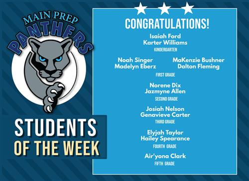 Main Prep Panthers of the Week March 1st