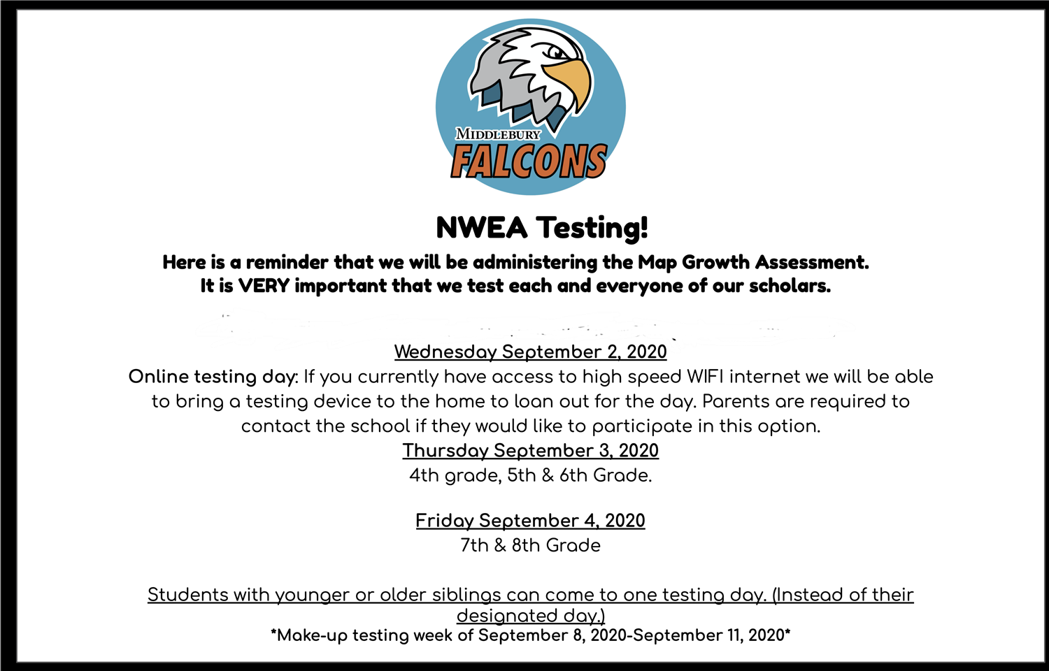 NWEA Testing at Middlebury Academy