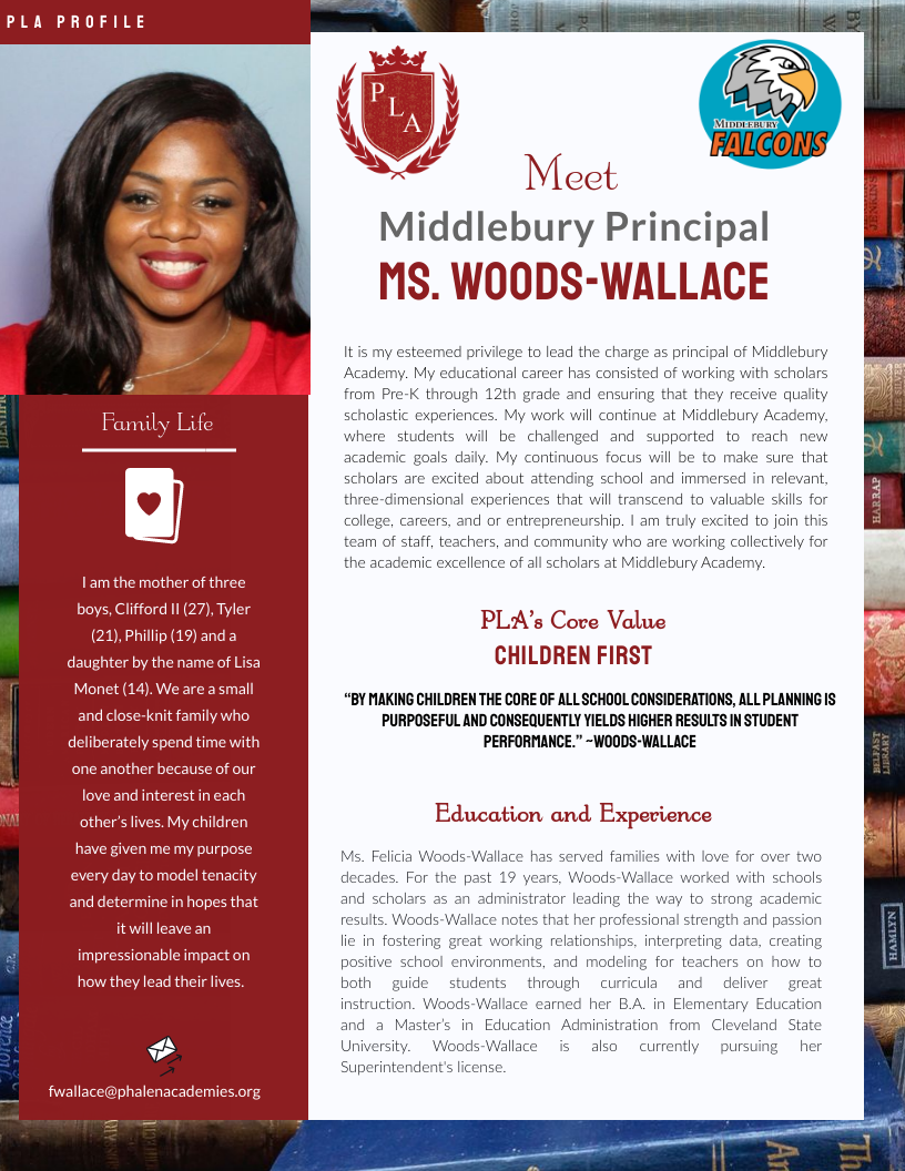 MIddlebury Welcomes Ms. Woods-Wallace!