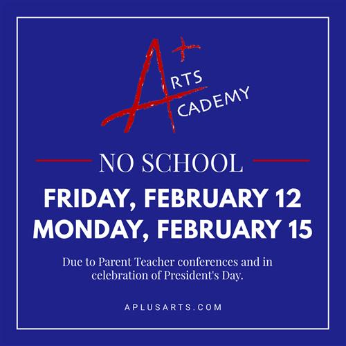 A Plus Arts Academy Half Days Dec 17 and Dec 18