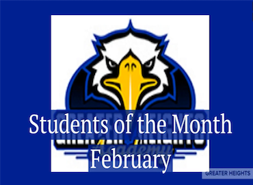 Greater Heights Academy February Students of the Month