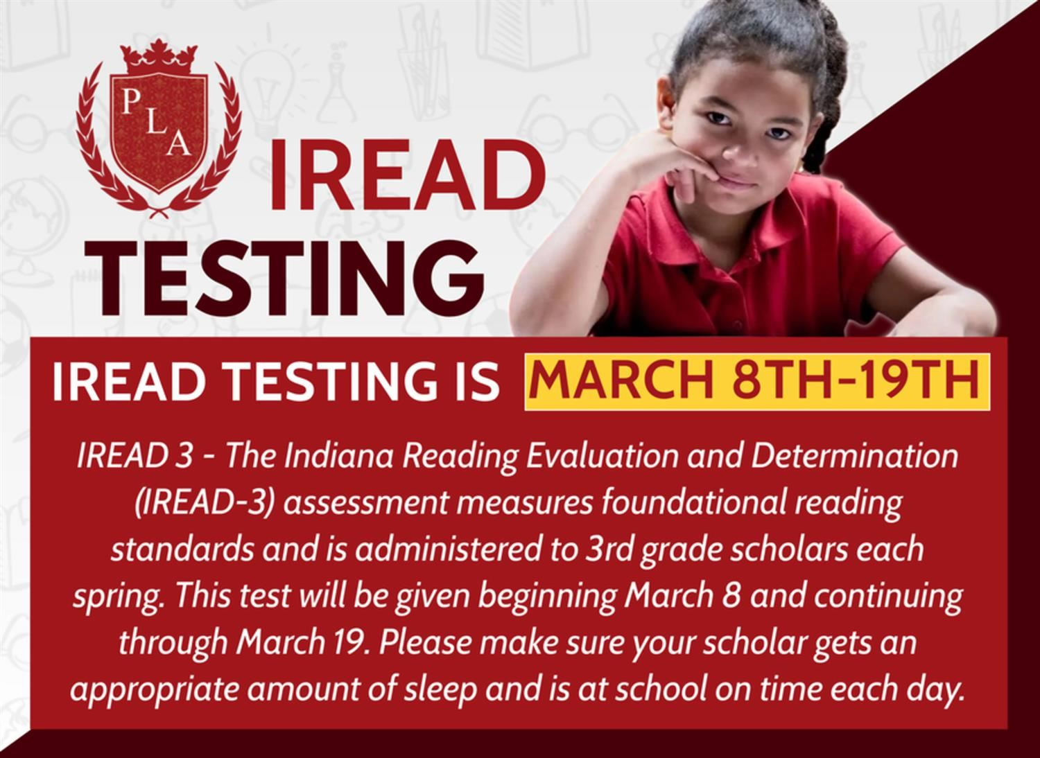 PLA@48 IREAD Testing March 8t