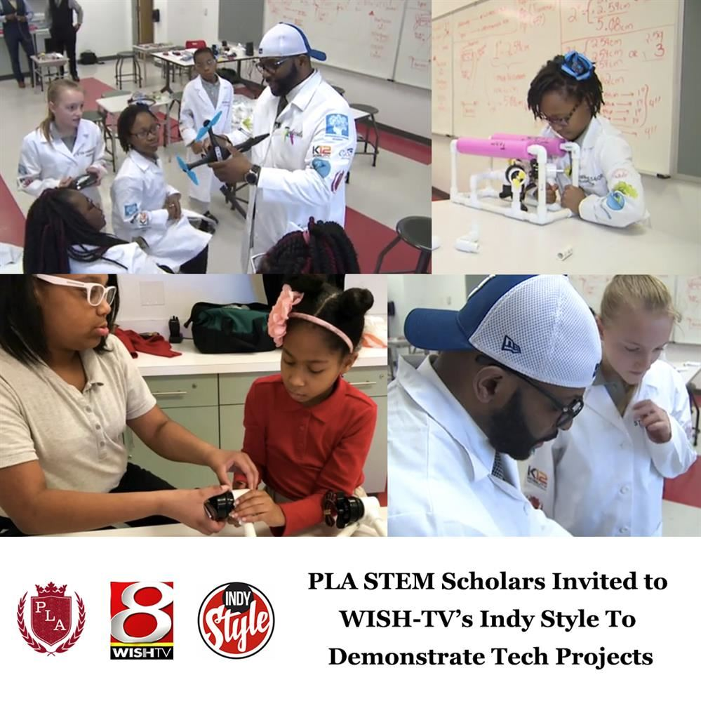 PLA STEM Scholars Featured on WISH-TV