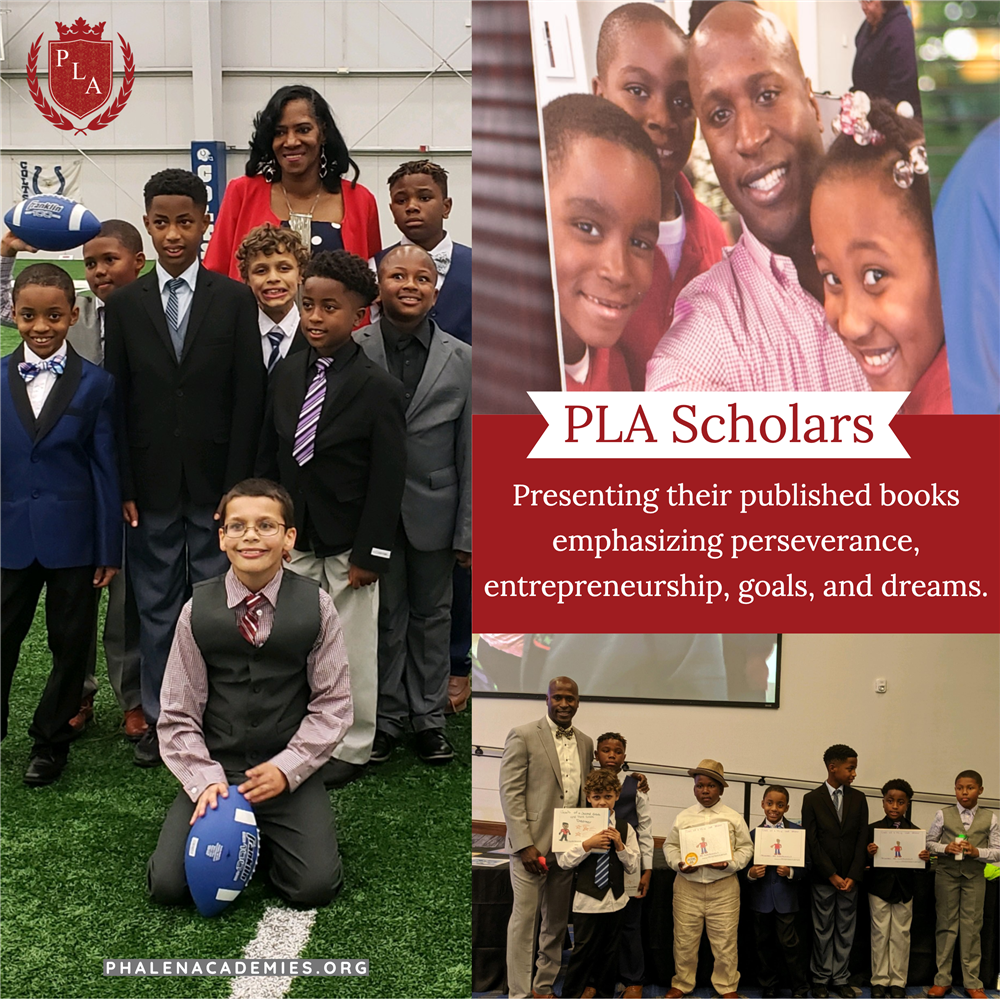 Phalen Leadership Academies' scholars present published work.