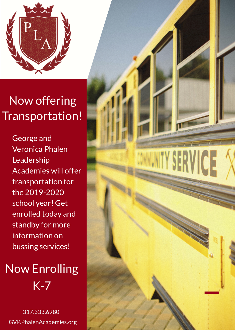 GVP Announces Bus Transportation for Next School Year!
