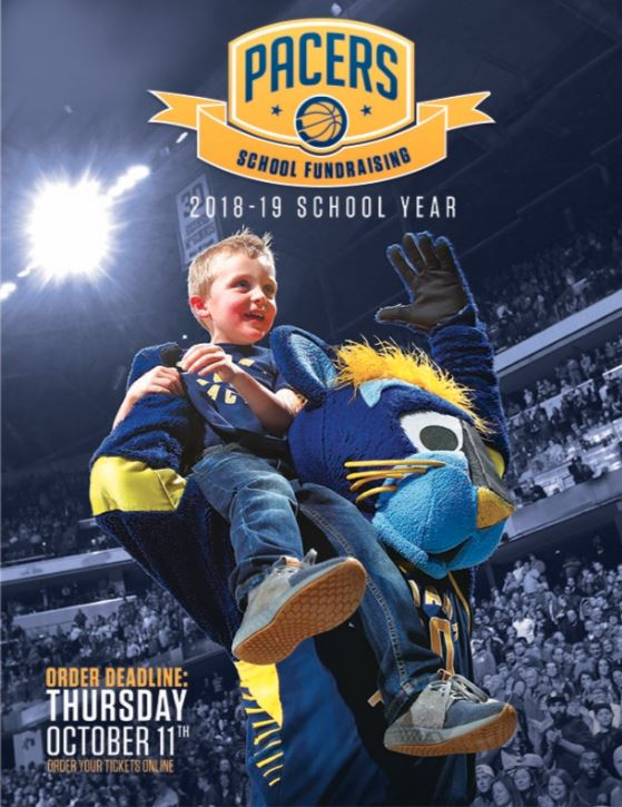 Indiana Pacers School Fundraising Flyer
