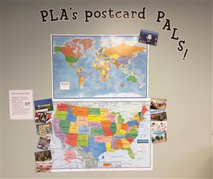 PLA Postcard Pals Map