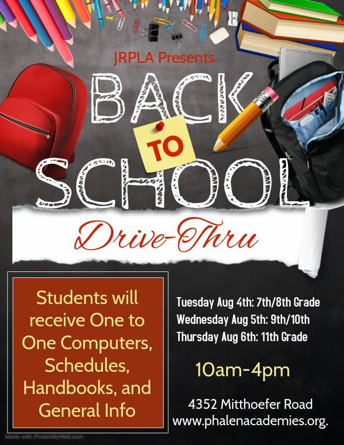 Join Our Back to School Drive Thru to Pick Up Learning Devices