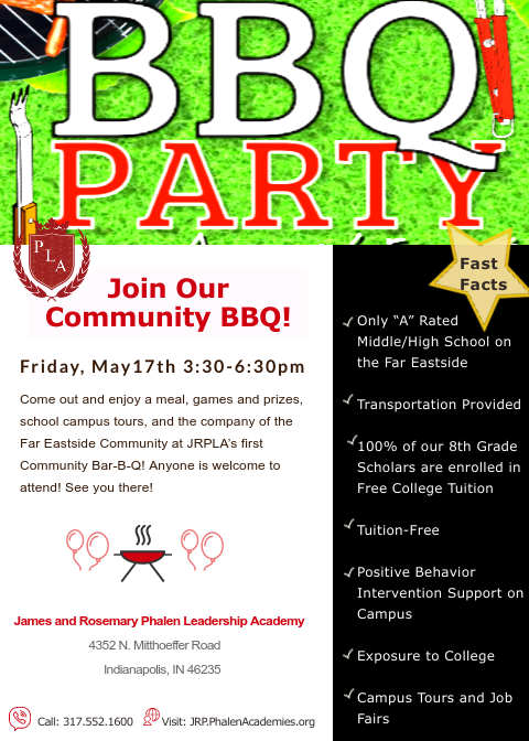 Don't Miss JRP's First Annual Community BBQ May 17th!