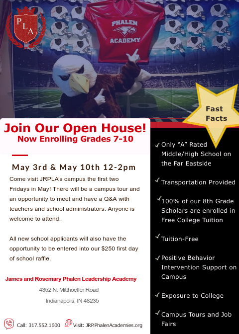 James and Rosemary Phalen Leadership Academy  Open House