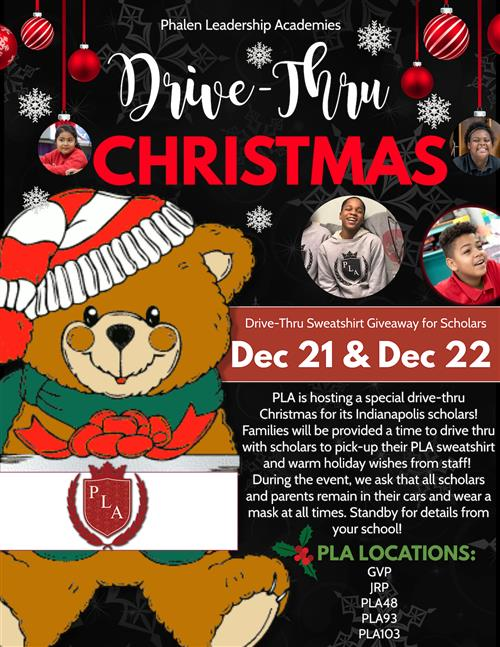 Drive Thru Christmas at George and Veronica Phalen Leadership Academy